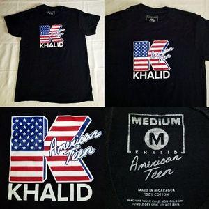 Unisex Khalid American Teen USA Flag Tee Shirt M